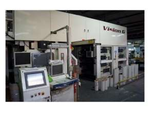 PCMC Vision G 8 colour gearless CI flexo press