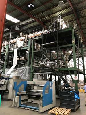 Kiefel Compex 80SA Mono layer Blown Film Line